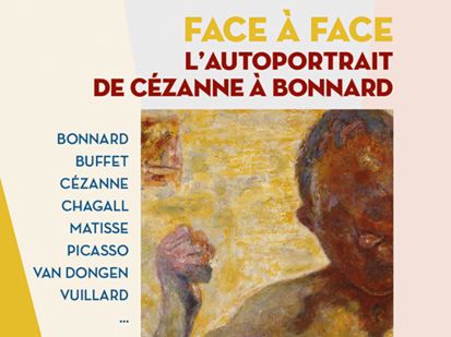 image of the poster of the exhibition Face a Face held at Bonnard Museum from 26 June to 3 October