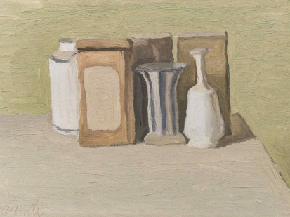 Giorgio Morandi, Natura Morta, 1949, Oil on canvas 30 x 45 cm. (11.8 x 17.7 in.)