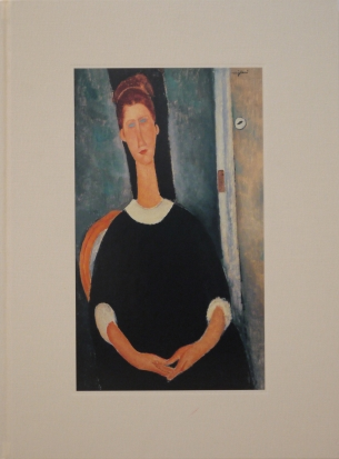 Image of the cover of the book, Amadeo Modigliani: A Bohemian Myth, which features one of Modigliani's painting, Portrait de Jeanne Hébuterne, 1919
