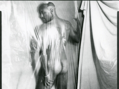 Man behind plastic by Benjamin Fredrickson