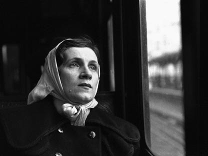 Woman wearing scarf by Vivian Cherry