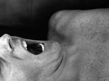 Man with mouth open by Carrie Levy