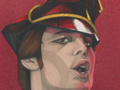 Drawing of Freddie Mercury by Mel Odom