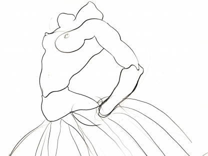 Sketch of ballerina by Antonio Lopez
