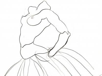 Sketch of ballerina by Antonio Lopez