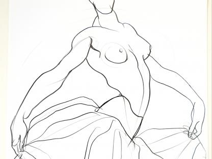 Ballet Dancer by Antonio Lopez