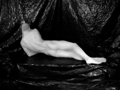 Man in body stocking by Benjamin Fredrickson
