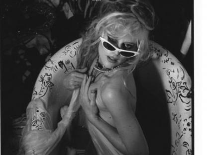 Phoebe Legere in bathtub by Don Herron
