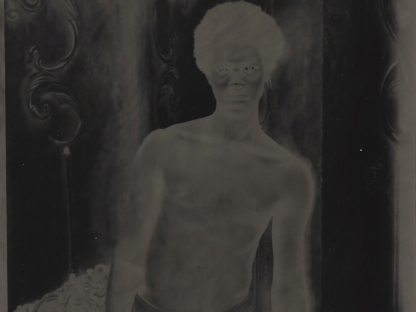 Man in negative by Benjamin Fredrickson