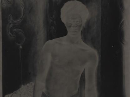 Man in negative by Benjamin Fredrickson