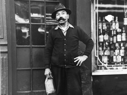 Man by liquor store by Vivian Cherry