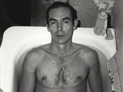 Peter Hujar in bathtub by Don Herron
