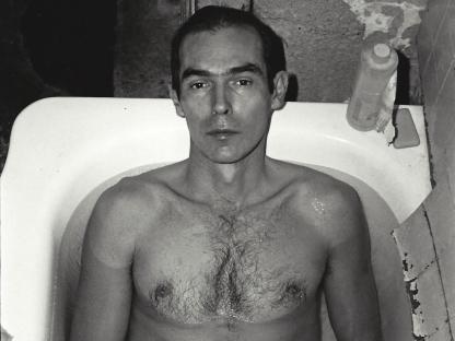 Peter Hujar in bathtub by Don Herron