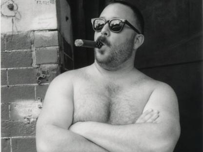 Man smoking by Benjamin Fredrickson
