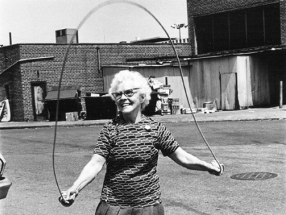 Woman jumping rope by Arlene Gottfried