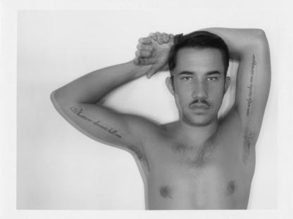 Man with mustache by Benjamin Fredrickson