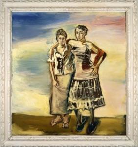 Portrait of Stella Madrid and Lola Montes Schnabel