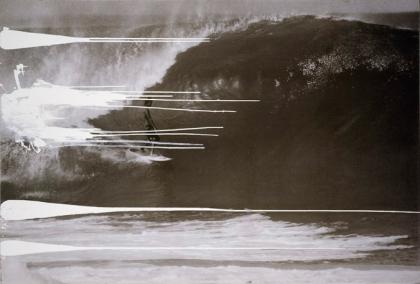 Painting for Malik Joyeux and Bernardo Bertolucci (Surfer)