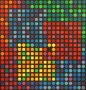 Victor Vasarely, Orion Noir, 1970