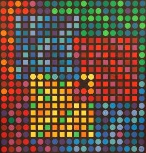 Victor Vasarely, Orion Noir, 1970