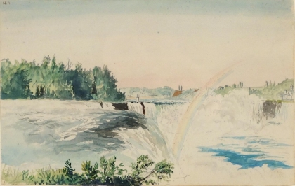 CHARLES DEWOLF BROWNELL Niagara Falls from the American Side circa 1859