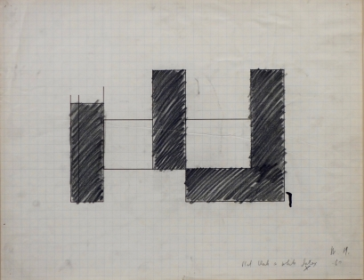 Michael Heizer, Untitled (Painting Study), 1967