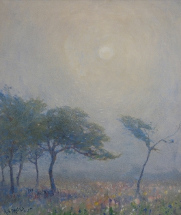 Arthur Bowen Davies, Sunrise Over Meadow, 1920