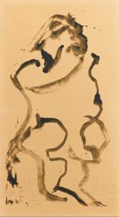 Willem de Kooning, Untitled (Man Standing, Facing Left), 1970