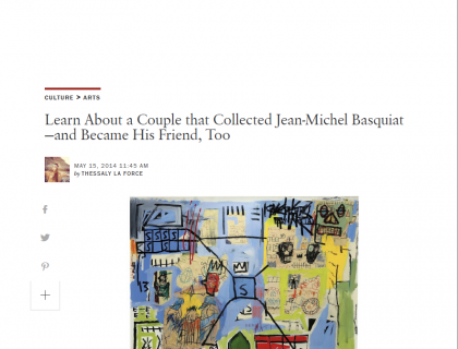 Learn About a Couple that Collected Jean-Michel Basquiat—and Became His Friend, Too