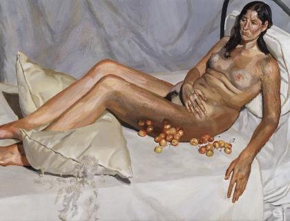 Lucian Freud, Irish Woman on a Bed, 2004