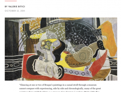 """Photograph of """"Georges Braque: From Fauvism to Cubism"""""""