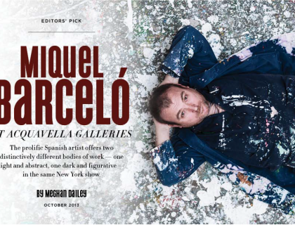 "Photograph of ""Miquel Barcelo at Acquavella Galleries"""