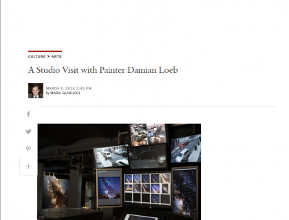 """Photograph of """"A Studio Visit with Painter Damian Loeb"""""""