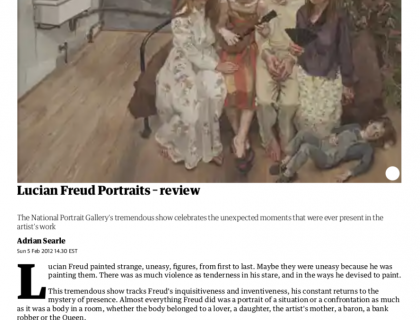 """Photograph of """"Lucian Freud Portraits - Review"""""""