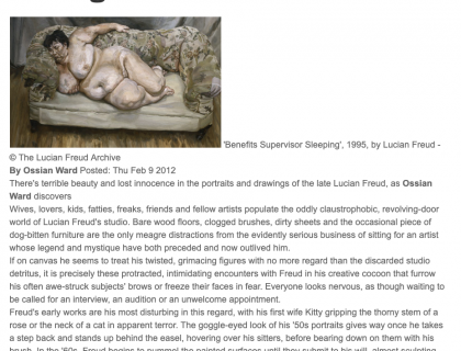 "Photograph of ""Review of Lucian Freud Portraits and Drawings"""