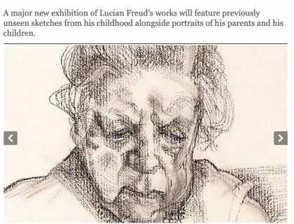 """Photograph of """"Unseen masterpieces by Lucian Freud unveiled for the first time"""""""