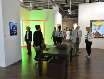 Warhol, Flavin, Picasso installed in art fair booth
