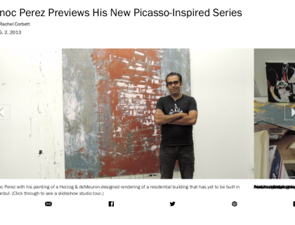 "Photograph of ""Enoc Perez Previews His New Picasso-Inspired Series"""