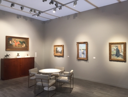 TEFAF New York Spring booth installation