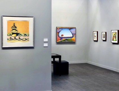 booth, Frieze Los Angeles, Thiebaud paintings