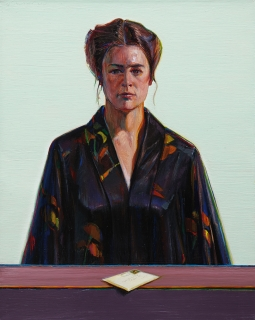 Wayne Thiebaud, Robed Woman with Letter, 1976