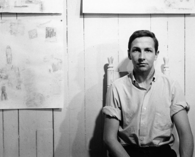 Photograph of Robert Rauschenberg