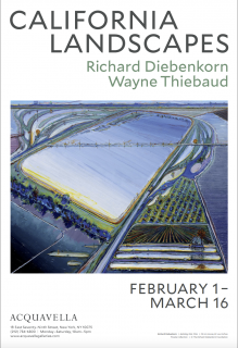 California Landscapes Wayne Thiebaud poster