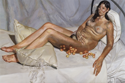 Lucian Freud, Irish Woman on a Bed, 2004