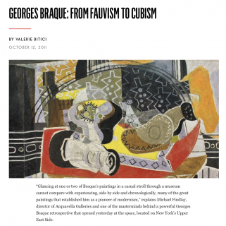 "Photograph of ""Georges Braque: From Fauvism to Cubism"""