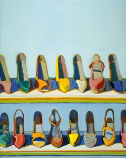 Wayne Thiebaud, Shoe Rows, 1971