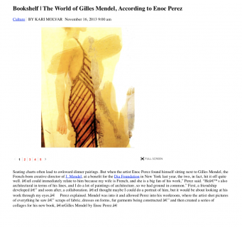 """The World of Gilles Mendel, According to Enoc Perez"""