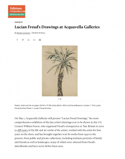 "Photograph of ""Lucian Freud's Drawings at Acquavella Galleries"""