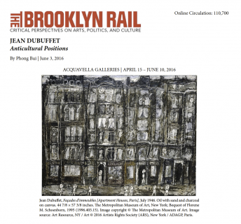 The Brooklyn Rail, Jean Dubuffet: Anticultural Positions