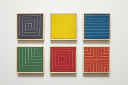 Frank Stella, Benjamin Moore Paintings (New Madrid, Sabine Pass, Palmito Ranch, Hampton Roads, Island No. 10, Delaware Crossing), 1961